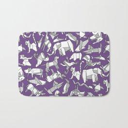 origami animal ditsy purple Bath Mat