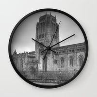 liverpool Wall Clocks featuring Liverpool Cathedral by Abi Booth