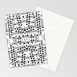 black square elements Stationery Cards
