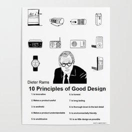 Dieter Rams 10 Principles of Good Design Portrait 2.0 Poster