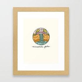 minnehaha falls illo Framed Art Print