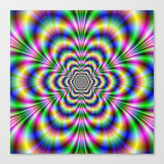 Psychedelic Hexagon Canvas Print