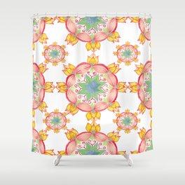 Yellow lotus Mandala Shower Curtain