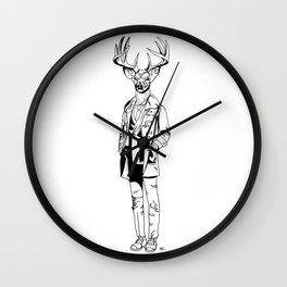 Gentle Deer / B&W Wall Clock