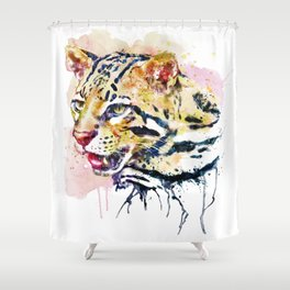 Ocelot Head Shower Curtain