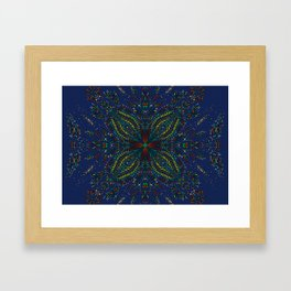 Mexican Chromatic Pattern Blue Framed Art Print