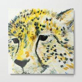 Cheetah watercolor  Metal Print