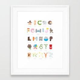 Australian Alphabet Framed Art Print