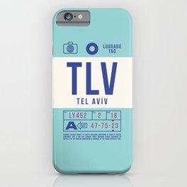 Baggage Tag B - TLV Tel Aviv Israel iPhone Case