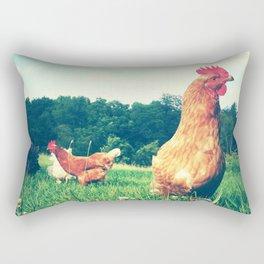 The Life of a Chicken Rectangular Pillow