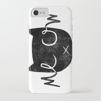 meow iPhone & iPod Cases featuring Meow by Laura O'Connor