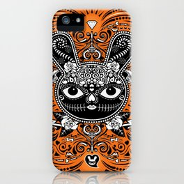Day Of The Dead Bunny Celebration iPhone Case
