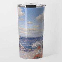At the Seaside, William Merritt Chase 1892 Travel Mug