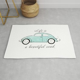 Life is a beautiful road Rug