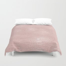 Metallic Rose Gold Blush Duvet Cover