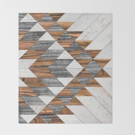 Urban Tribal Pattern 12 - Aztec - Wood Throw Blanket
