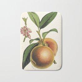 A peach plant - vintage illustration Bath Mat