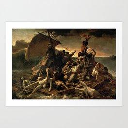 The Raft of the Medusa by Théodore Géricault Art Print