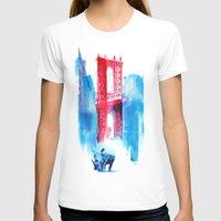 bridge T-shirts featuring Manhattan bridge by Robert Farkas