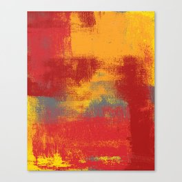 Orange Red Yellow Gray Canvas Print