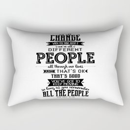 Doctor Who - We All Change Rectangular Pillow