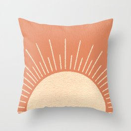 Sunrise pink Throw Pillow