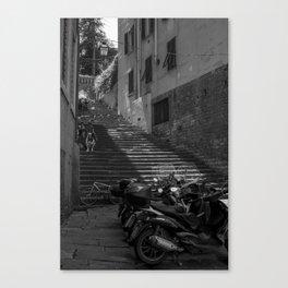 The Short-cut Home: Vespas Canvas Print