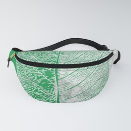 Natural Outlines - Leaf Green & White Marble #452 Fanny Pack