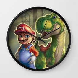 Mario and Yoshi in the real world Wall Clock