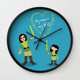 My mom is my hero Wall Clock