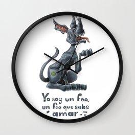 Yo soy el feo Xoloitzcuintle Wall Clock