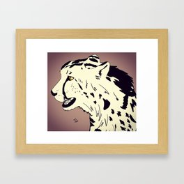 King Cheetah Framed Art Print