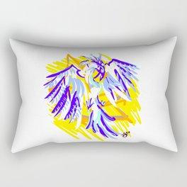 Blue Phoenix Rectangular Pillow