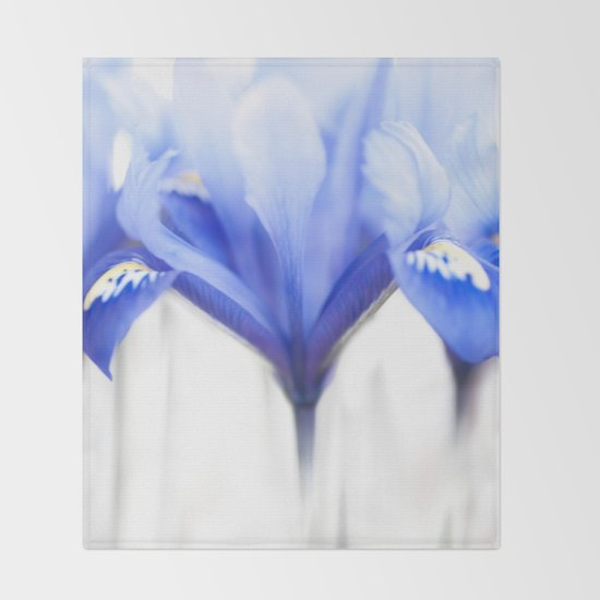 Blue Iris 1 Throw Blanket