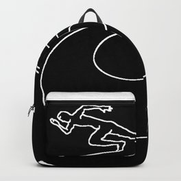 Running fast, working hard Backpack