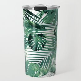 Tropical Jungle Leaves Siesta #5 #tropical #decor #art #society6 Travel Mug