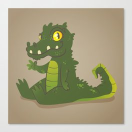 Baby Crocodile Canvas Print