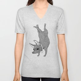 Chihuahua Handstand Unisex V-Neck