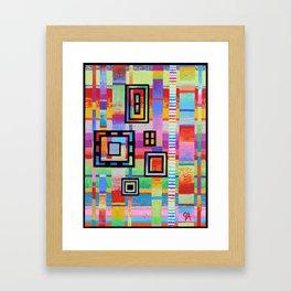 System Of Cubes Framed Art Print