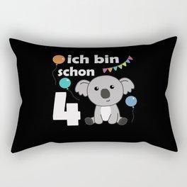4th Birthday Koala Four Years Old Cute Animals Rectangular Pillow