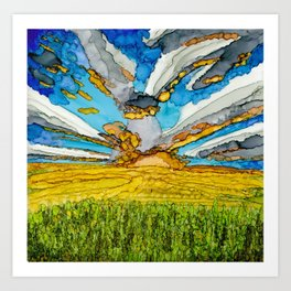Prairie Sunset Art Print