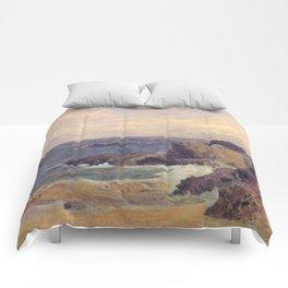 """Paul Gauguin - Seascape """"Rochers au bord de la mer"""" or """"La Côte rocheuse"""" (1886) Comforters"""