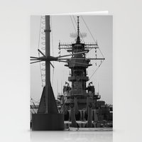 wisconsin Stationery Cards featuring USS Wisconsin by Kelly Stiles