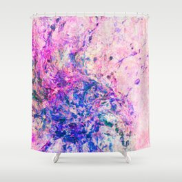 "Abstract Painting ""Flicker"" Shower Curtain"