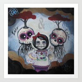 Sugar Skull Song Part 2: Lola y Lolo 2011 Art Print