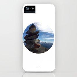 Inuksuk Mount Whistler - Low Poly Digital Art iPhone Case