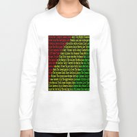 reggae Long Sleeve T-shirts featuring Reggae Artist - Roll Call by The Peanut Line