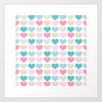 sweet hearts Art Print
