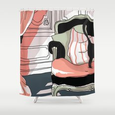 Le chat Shower Curtain