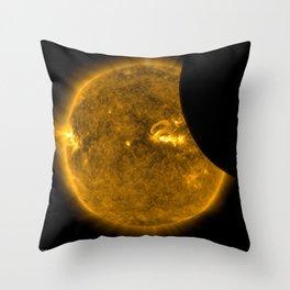 SDO Sees Solar Eclipse 2 Throw Pillow